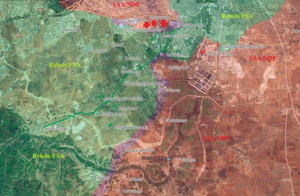 Syrian Army Takes Control of Strategic Air Force Technical Base in Southwestern Aleppo