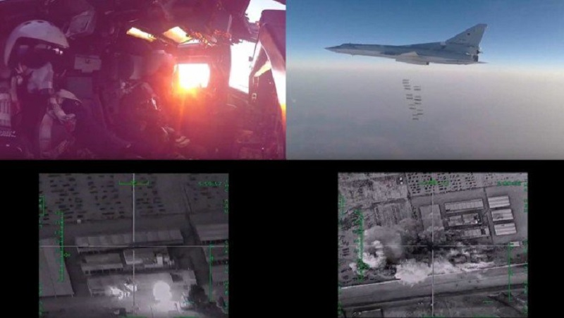 In video: Russian strategic bombers obliterate ISIS in Deir El Zor