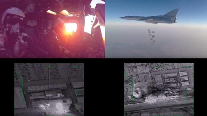 In video: Russian strategic bombers obliterate ISIS in Deir El Zor