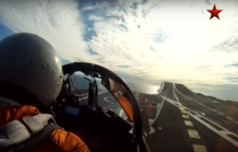 Aircraft MiG-29KR Landed on Deck of Admiral Kuznetsov for First Time (Video)