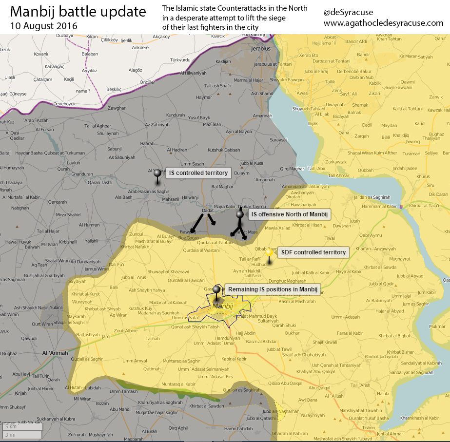 ISIS Launch Another Attempt to Lift Siege from Manbij