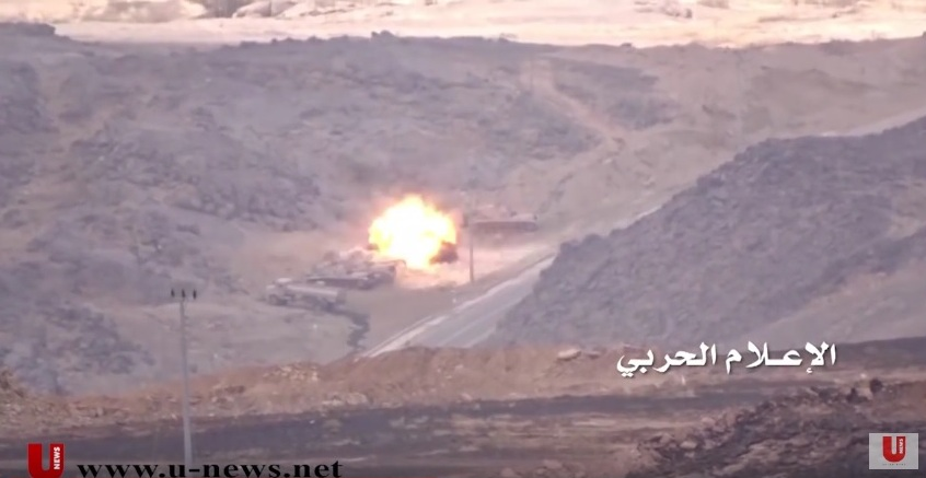 Houthis Destroy Saudi M60 Tank and Multipurpose Vehicle in Najran (Video)