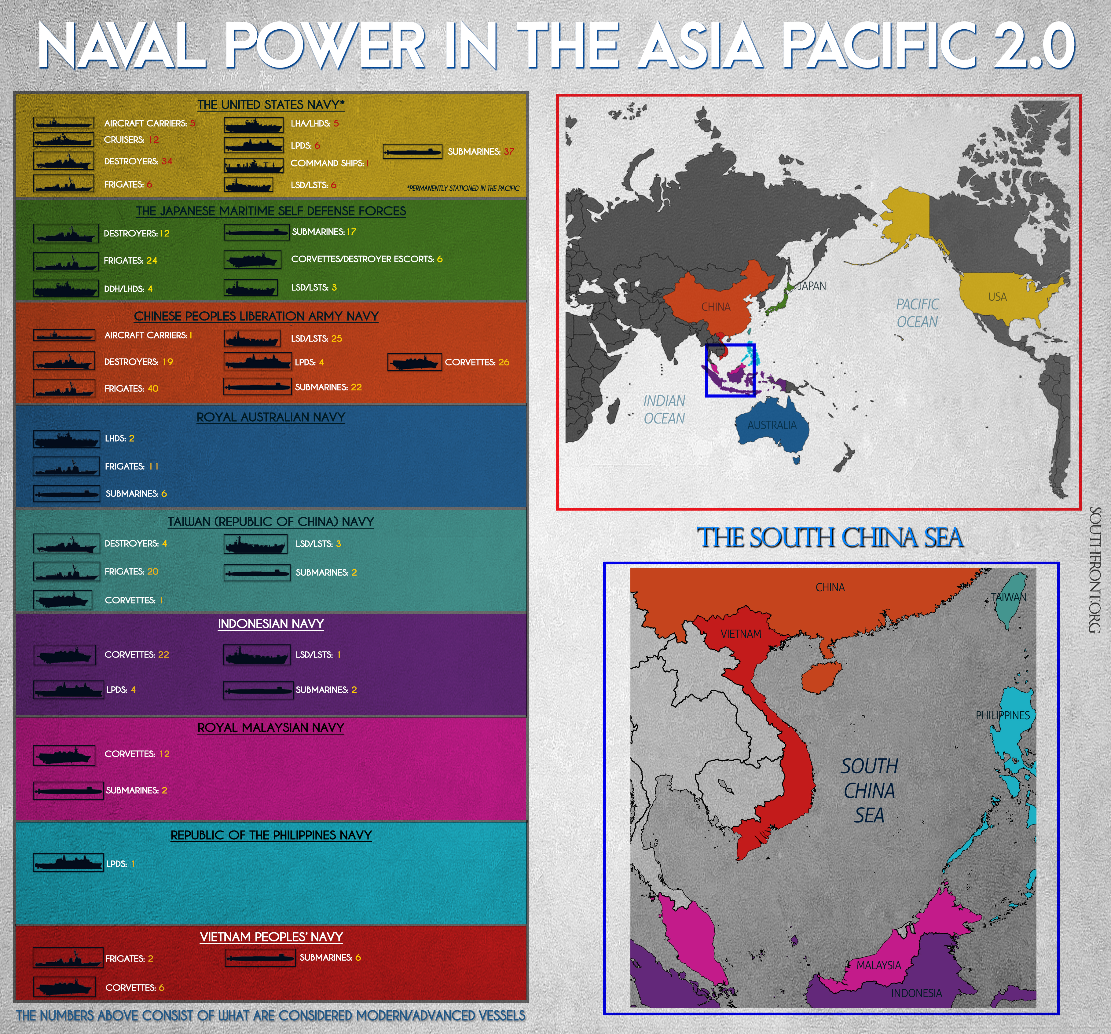 Naval Power In The Asia Pacific 2.0 (Infographics)