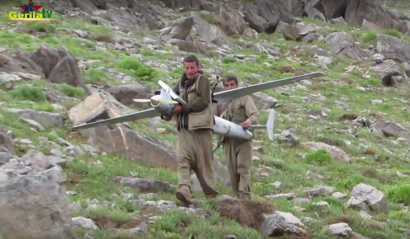 PKK Rebels Shot Down Turkish UAV (Video)