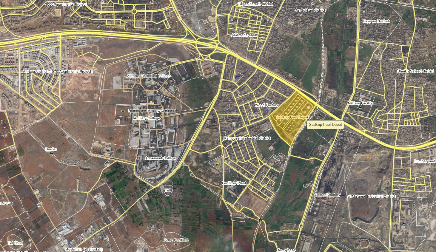 Overview of Military Situation in Aleppo City on August 11