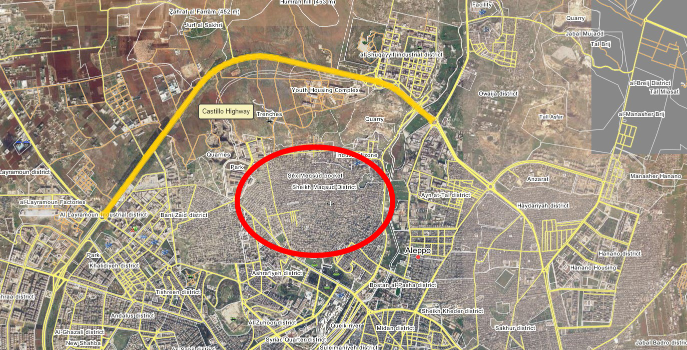 YPG Forces Shelling Government Supply Line to Westen Aleppo, Threat to Close It - Reports