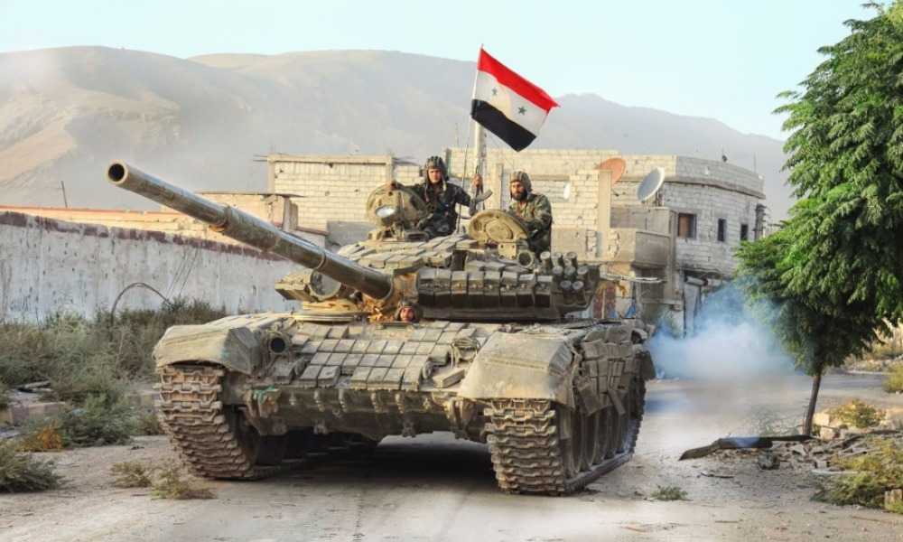 Syrian Army Counter-Attacks Terrorists near Ithriya-Khanasser Road in Aleppo
