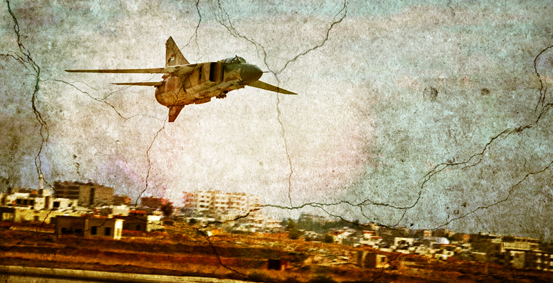 Syrian Air Force Destroys ISIS Convoy near Palmyra