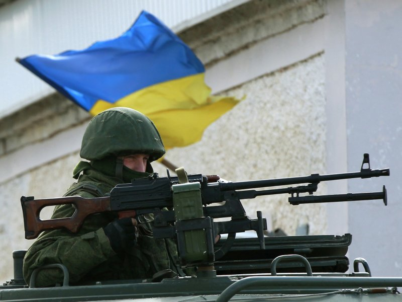 Ukraine Strengthens Military Forces at the Border with Crimea