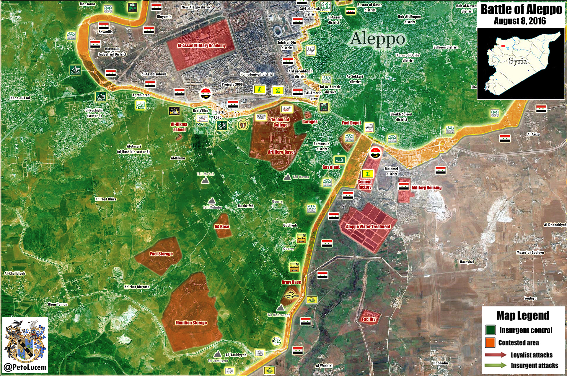 Military Situation in Southwestern Aleppo on August 8