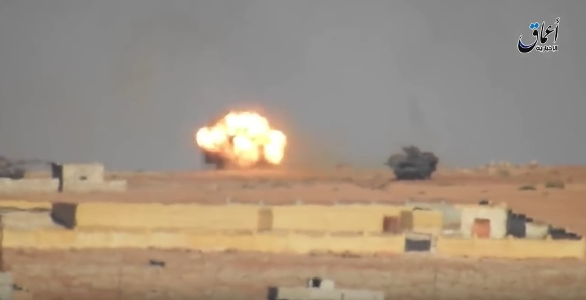 ISIS Burns 2 Turkish Tanks in Syria (Video)