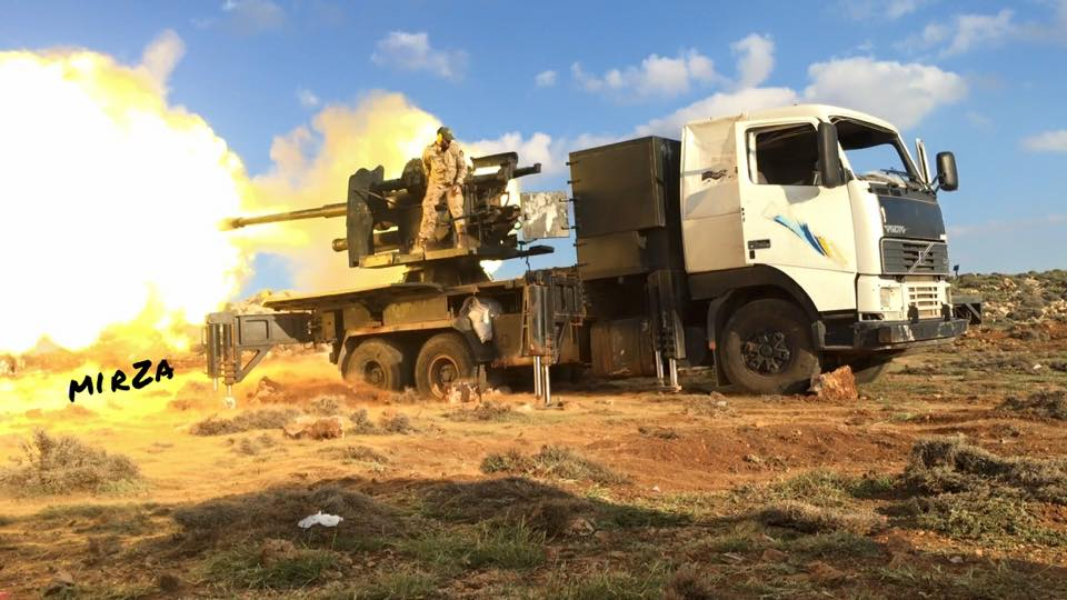 Original 100-mm Self-Propelled Artillery Platforms Eliminate Terrorists in Syria (Photos)