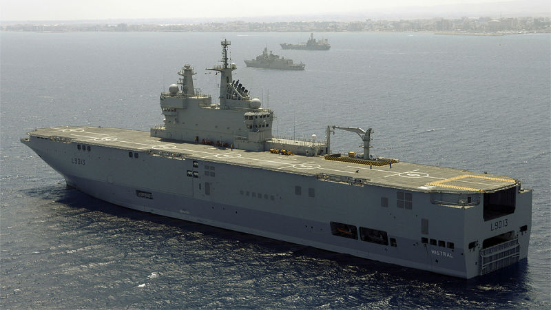 Russia, Egypt Are in Talks on Equipment for Mistral Helicopter Carriers