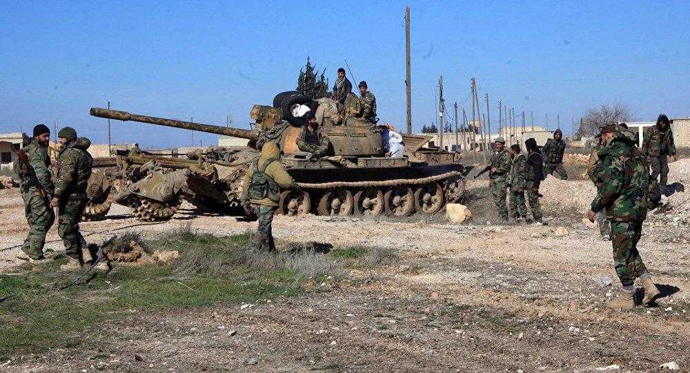 Battle footage of Liwaa Al-Quds, Syrian Army capturing Handarat Camp in Aleppo