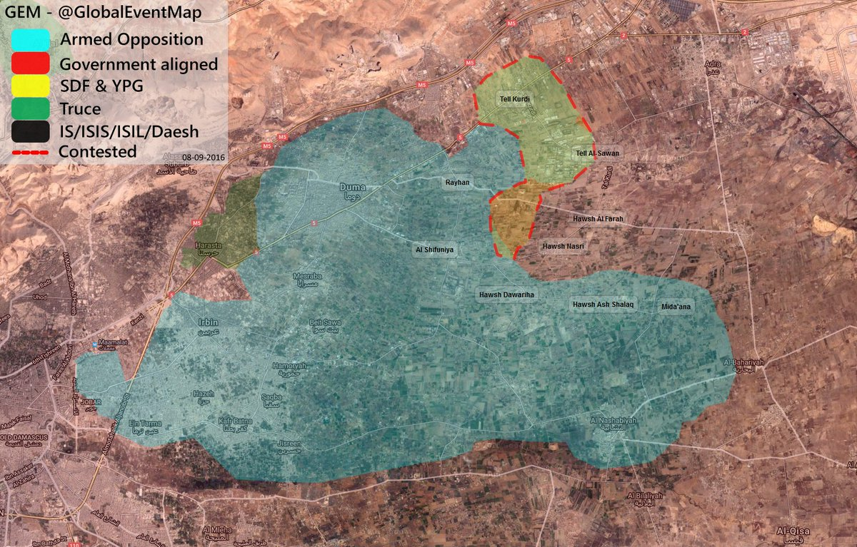 Syrian Army Advancing in Tell Kurdi in Damascus' Eastern Ghouta
