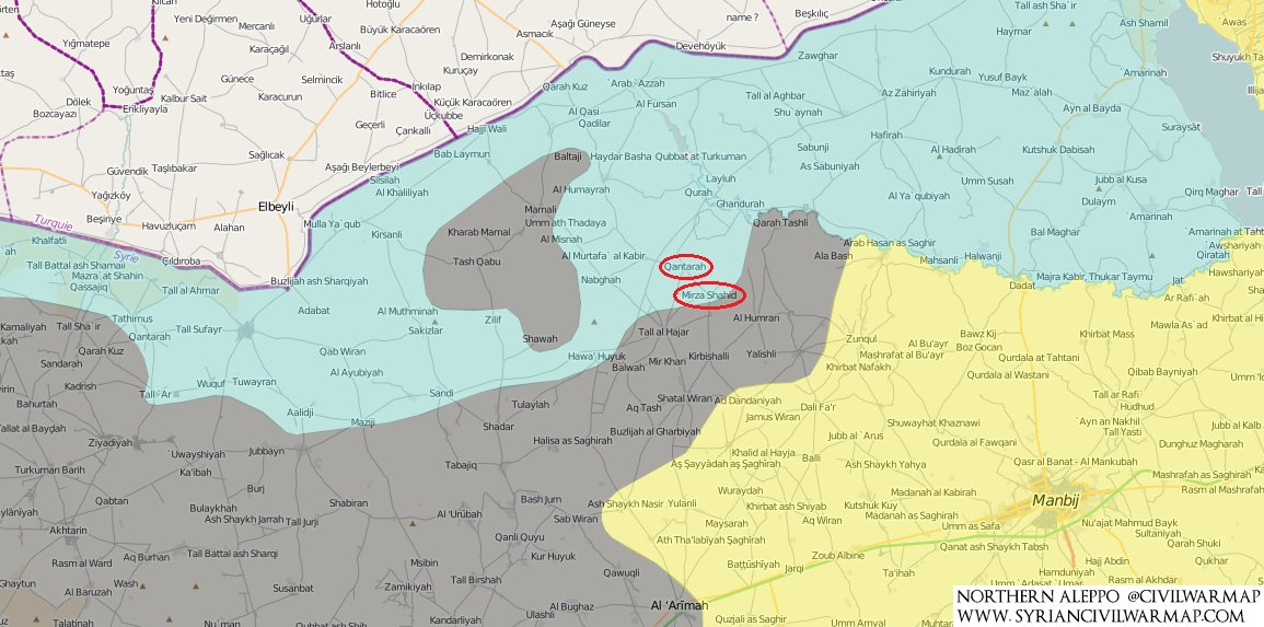 Turkish-Backed Militants Encircle Grouping of ISIS Units in Northern Aleppo