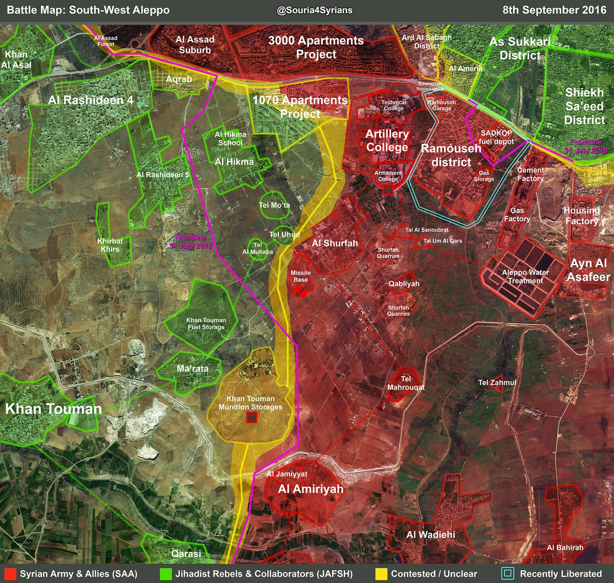 Pro-Government Forces Readying to Open New Supply line to Western Aleppo
