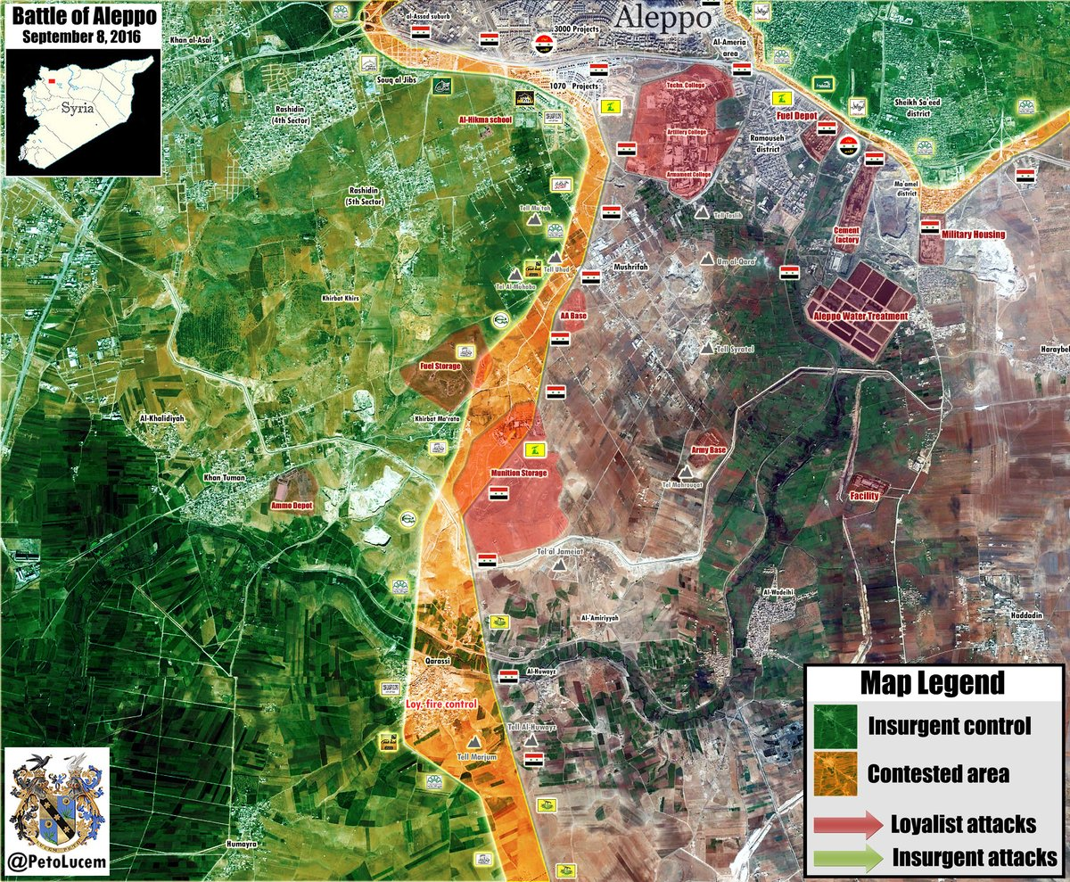 Overview of Battle for Aleppo City on September 9, 2016 (Maps, Photos)