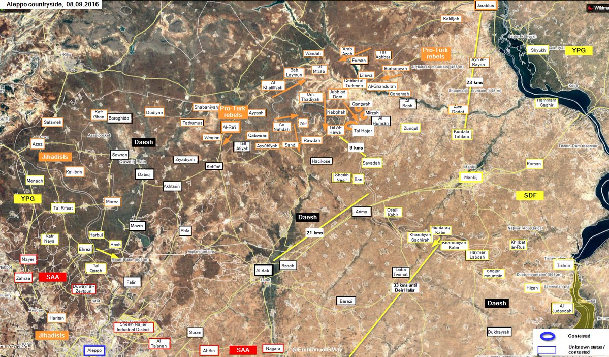 Turkey-led Operations in Northern Syria on September 8-9 (Map, Video)