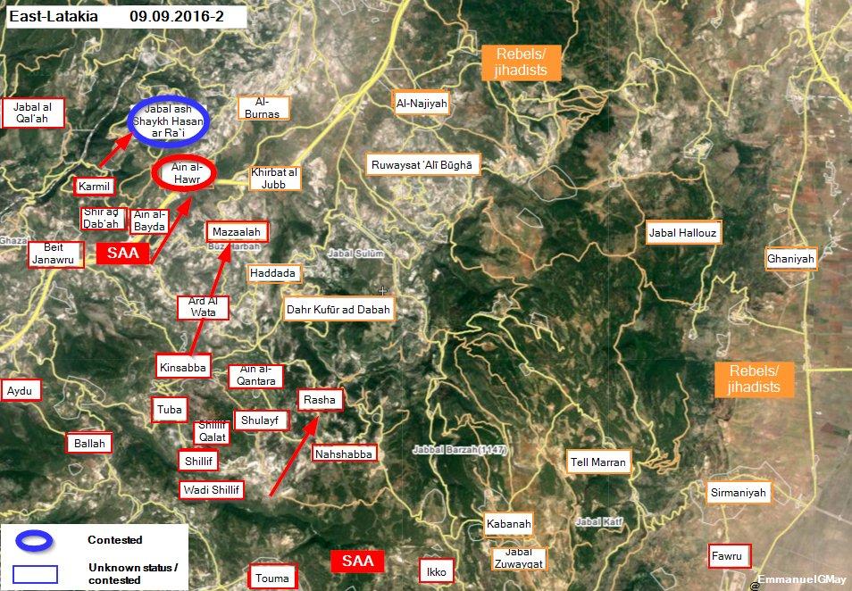 Government Forces Take Control of Al-Ra'i Mountains, Overlook Idlib-Latakia Countryside
