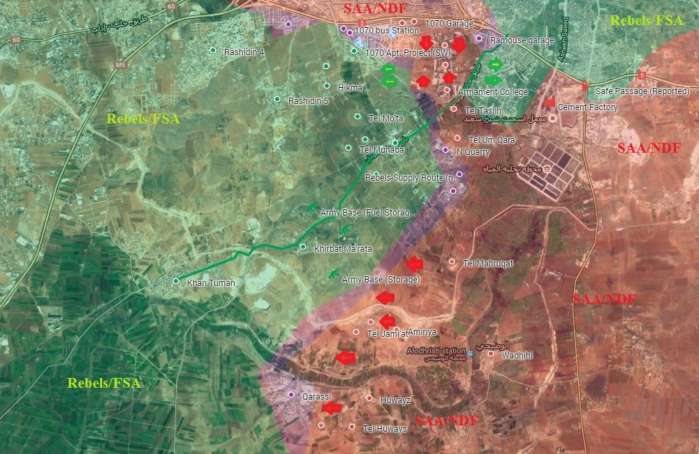 Syrian Army and Its Allies Cut Off Jaish al-Fatah's Corridor, Besieged Aleppo City (Maps, Videos)