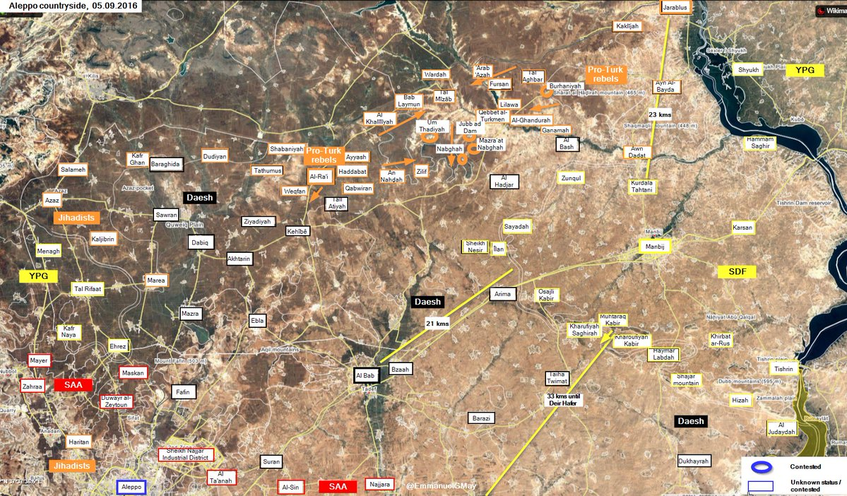 Turkey-led Military Operations in Northern Syria on September 5-6