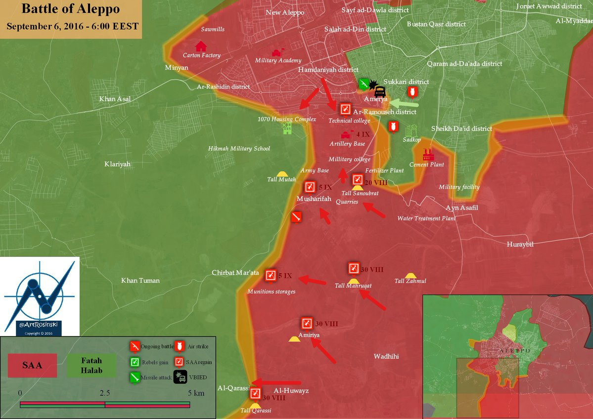 Syrian Army Seizes Al-Dabaghat Plant in Ramouseh Industrial District of Aleppo City
