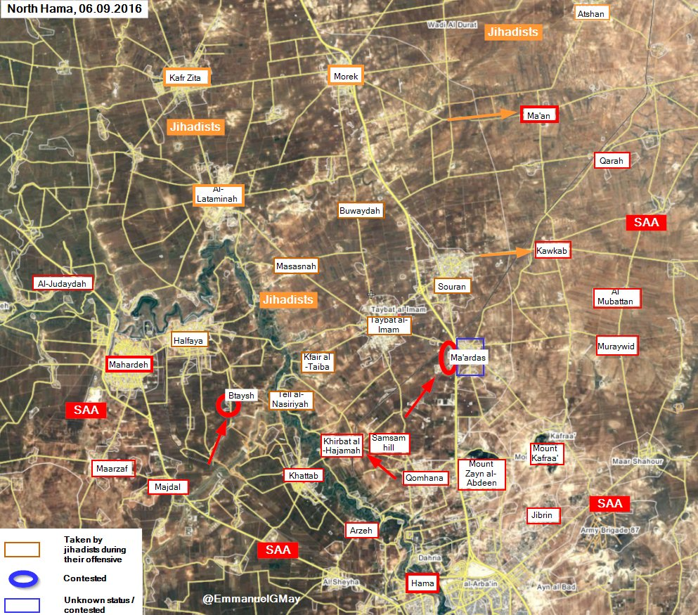 Government Forces Take Back Btaysh Village and Ma'ardas Neighborhood from Terrorists in Northern Hama