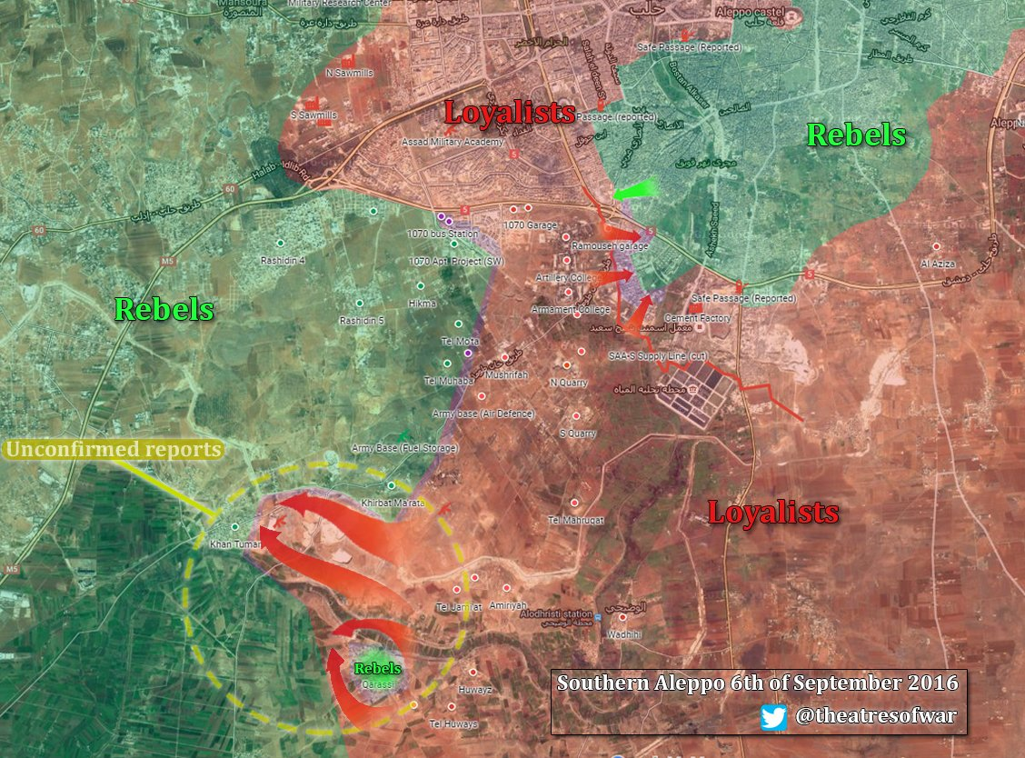 Syrian Army Captures Khan Touman Depots and Deploys in Outskirts of Strategic Town in Southern Aleppo