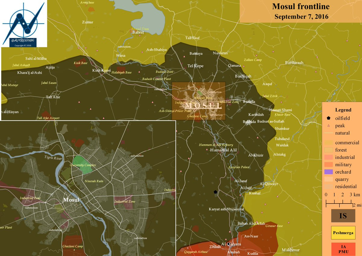 Iraq: Military Situation in the Area of ISIS Stronghold of Mosul