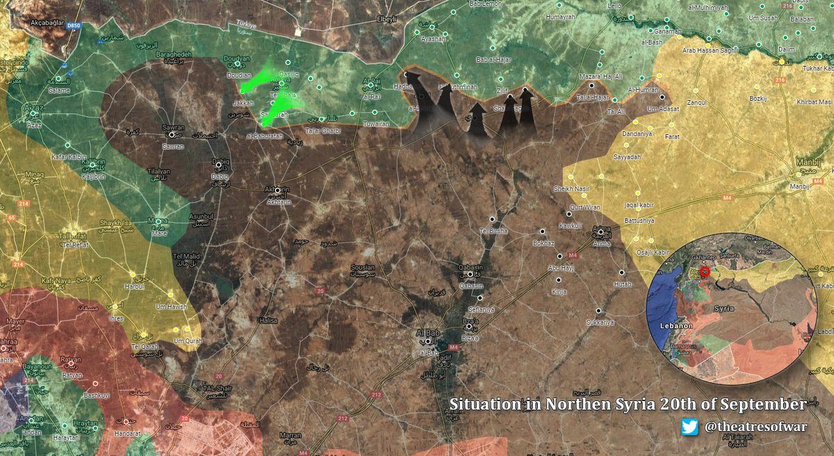 Military Situation in Northern Aleppo, Syria on September 20