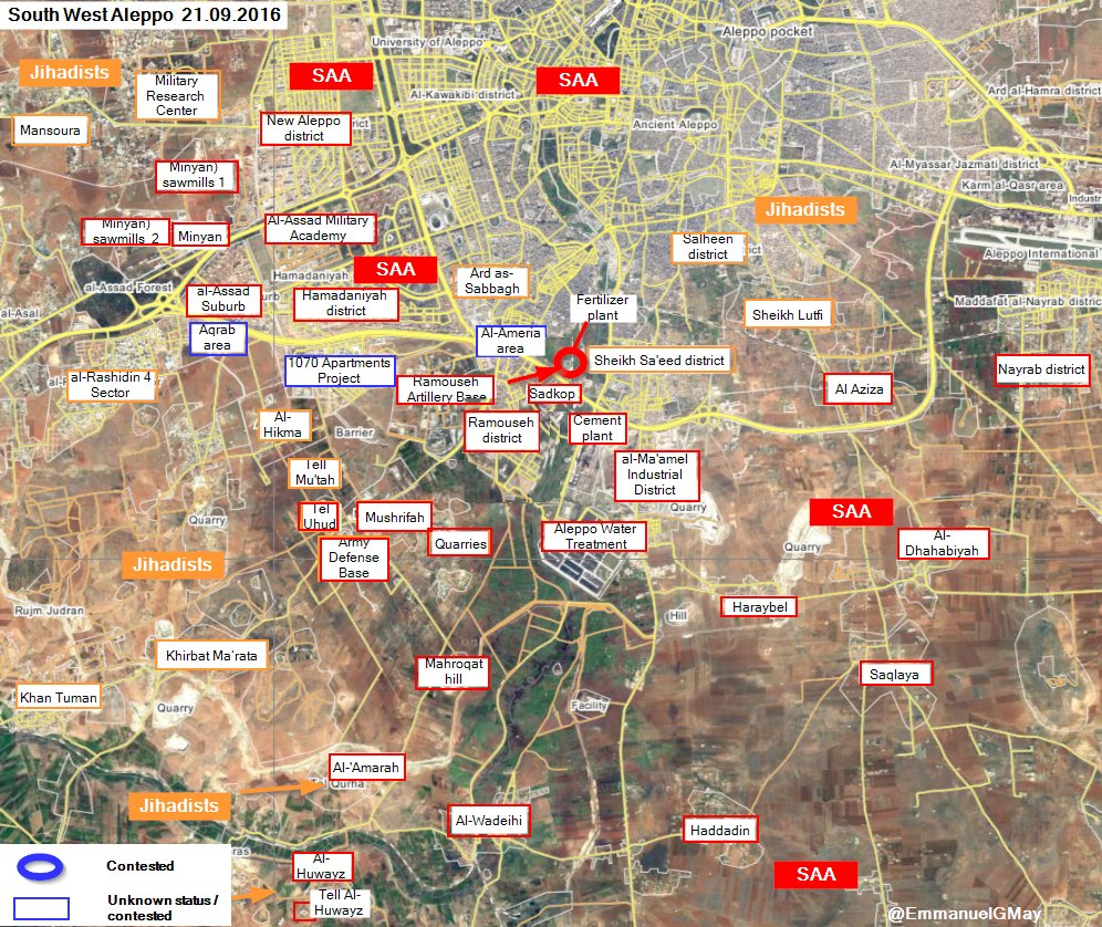 Syrian Army and Hezbollah Seizing Areas insdie Aleppo City