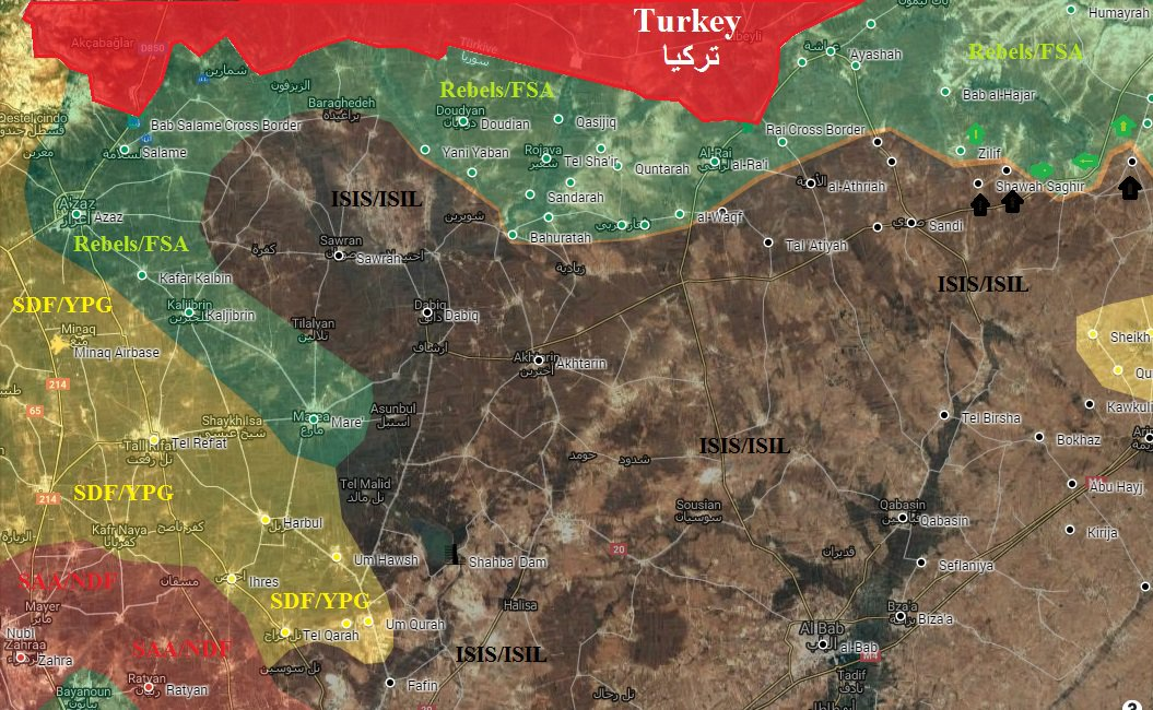 ISIS Regains 3 Villages from Ankara-led Forces in Northern Syria