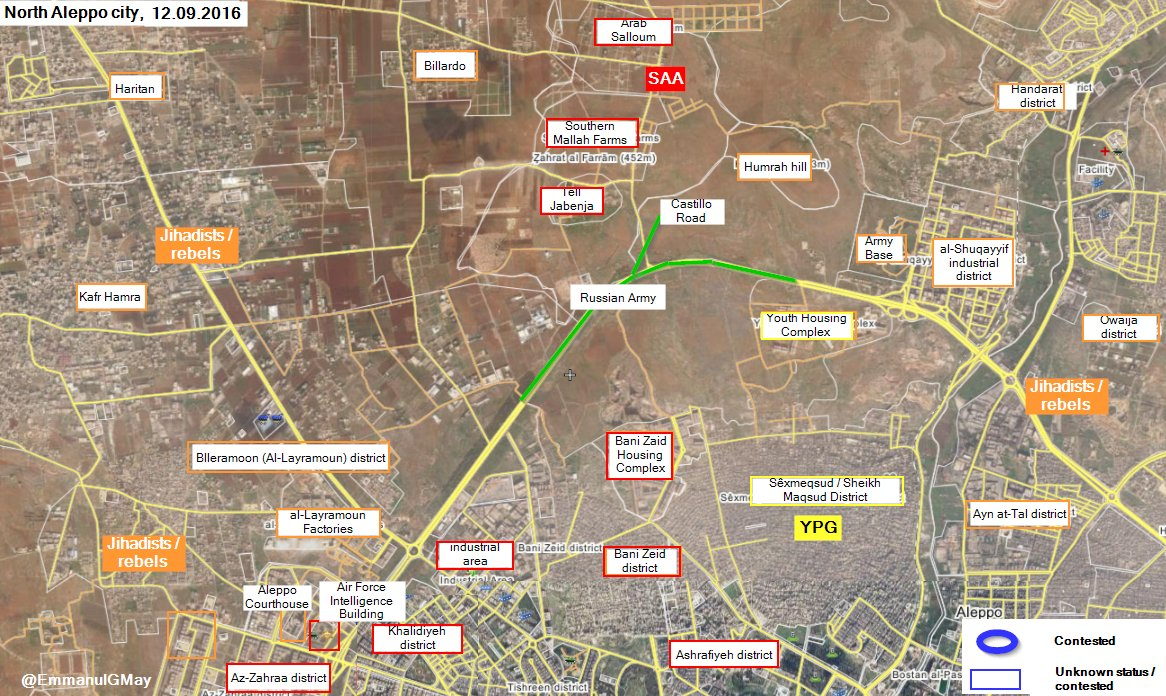 Russian Troops Deploying at Castello Highway in Northwestern Aleppo - Reports