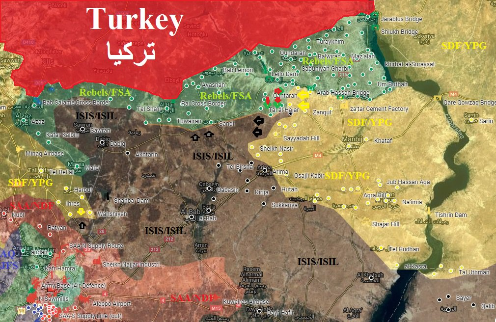 Turkey-led Forces Are in Control of 845km² of Syrian Territory