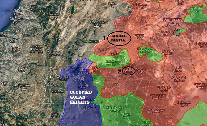 Israeli Warplanes Continued Air Strikes on Syrian Army in Quneitra