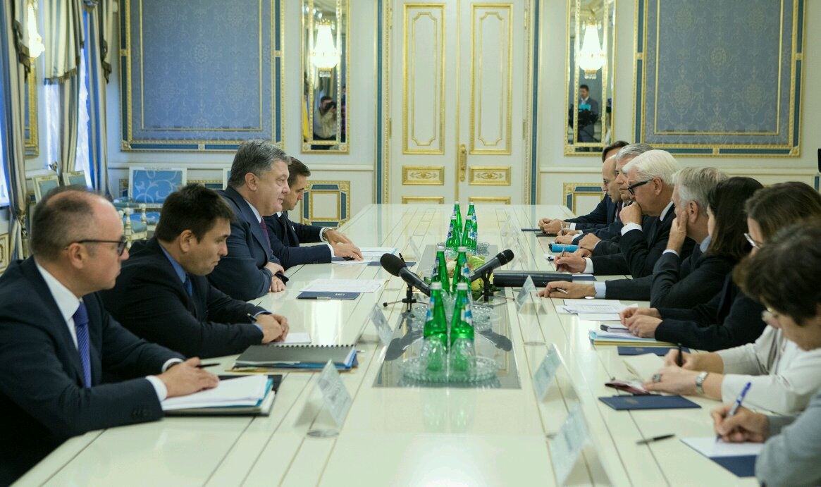 Poroshenko Culturally Sent Heads of German & French Foreign Ministries in Hell