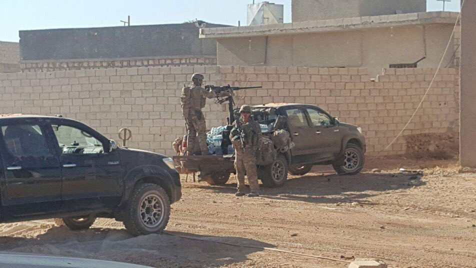 US Speical Forces Arrived Al-Rai in Northern Syria, but Were Kicked Out by Turkish-backed Militants (Video)