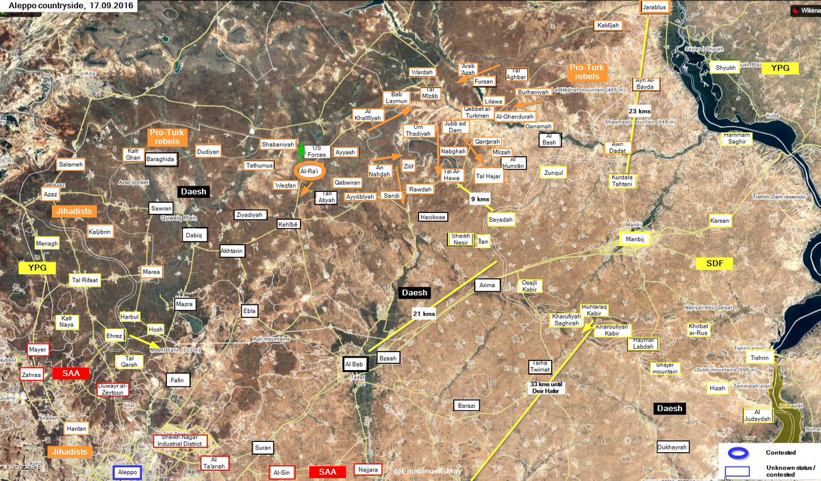 Military Situation in Northern Aleppo after US Special Forces Retreated from Al Rai