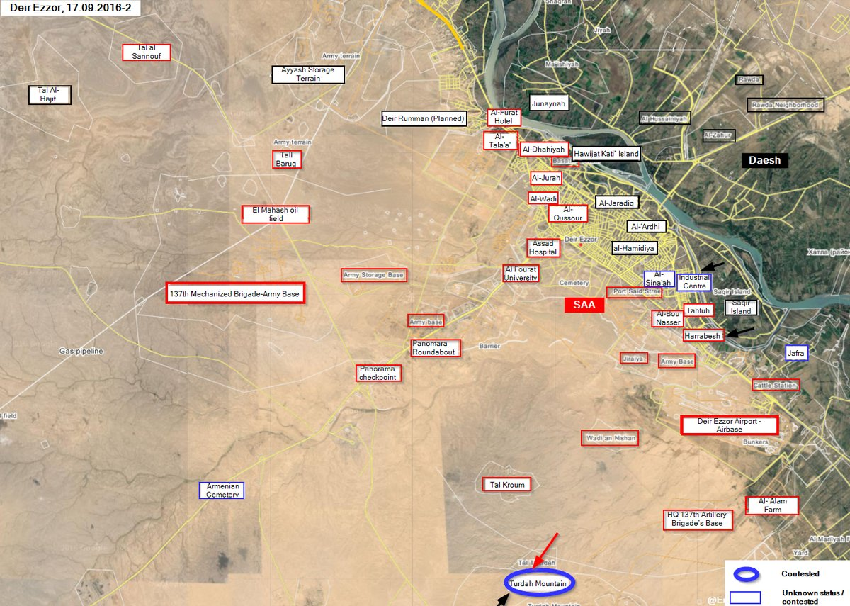 Syrian Army Seizes Most of Turdah Mountain from ISIS despite US Air Strikes against Government Forces