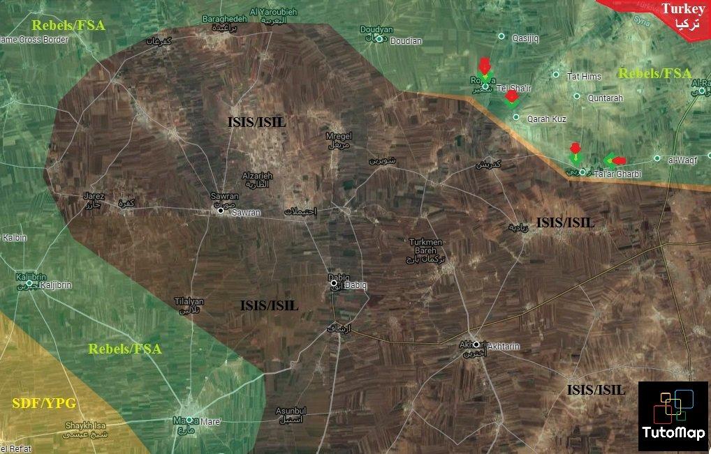 Turkish-backed Militants Seize 3 Villages West of Al Rai