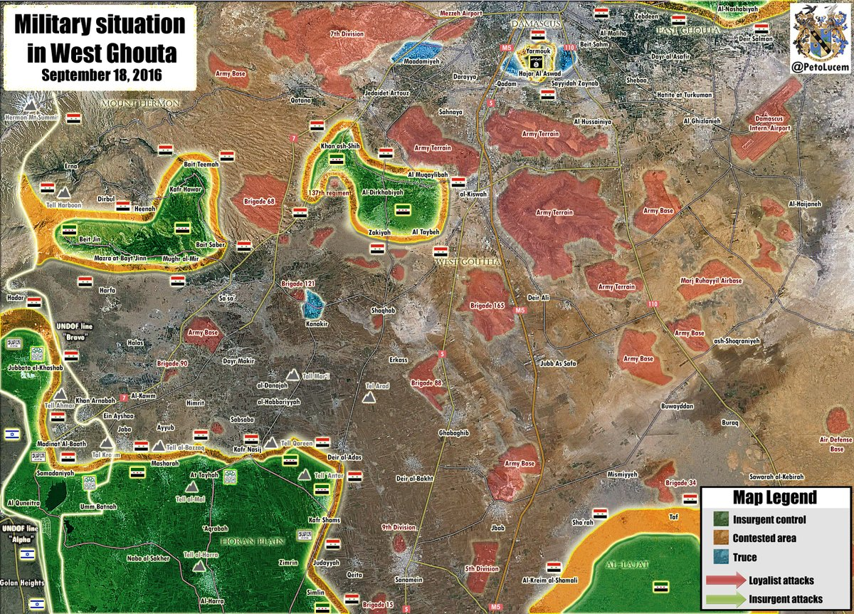 Map Update: Military Situation in Western Ghouta, Syria
