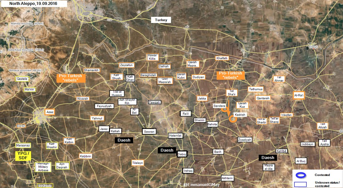 Turkish-backed Militants Intensify Operations in Northern Aleppo