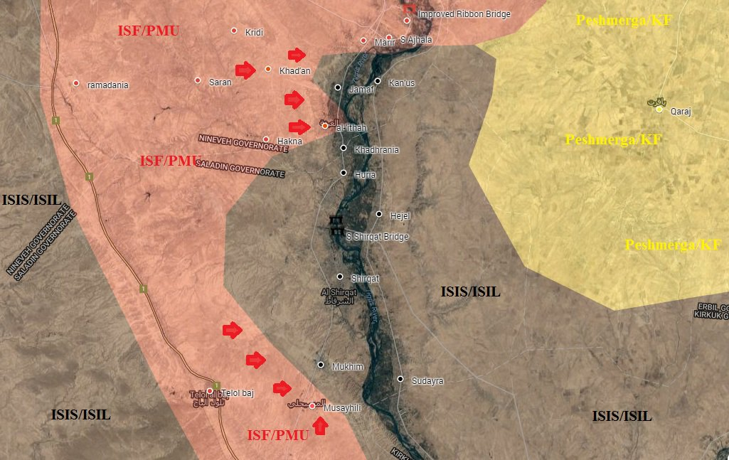 Iraqi Forces Launch Full-Scale Offensive against ISIS near Mosul
