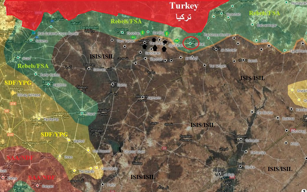 Tukey-led Forces Lost 20 Villages to ISIS in Northern Syria