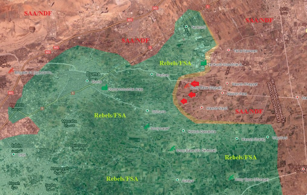 Government Forces Take Control of Signal Military Base in Eastern Ghouta
