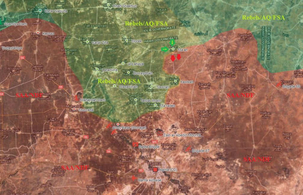 Terrorists Capture Ma'an in Northerh Hama