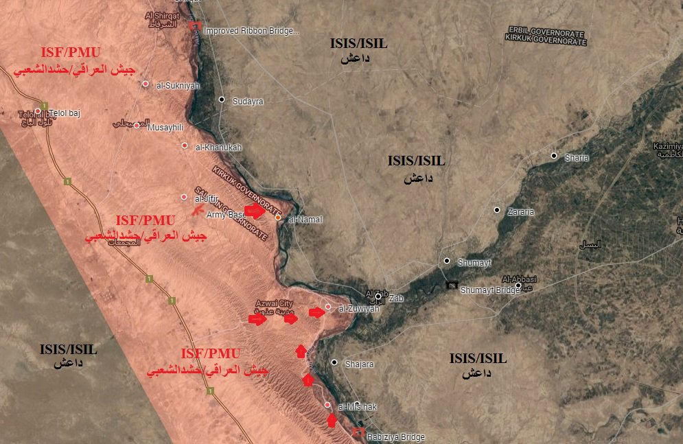 Iraqi Forces Secure Areas South of Shirqat. ISIS Retreating