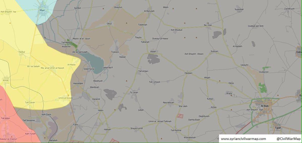 Kurdish YPG Continued Advance against ISIS in Northwestern Syria