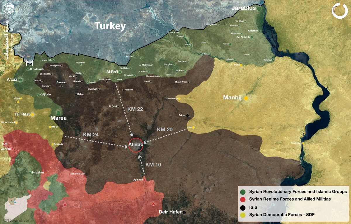 Map Update: Military Situation in Northern Aleppo on September 26, 2016